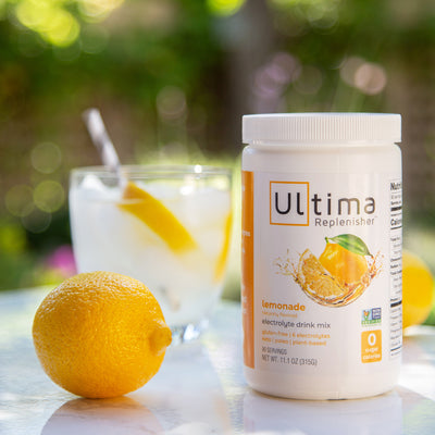 Ultima Replenisher Electrolyte Hydration Powder 90 Serving Canister Lemonade Beverage
