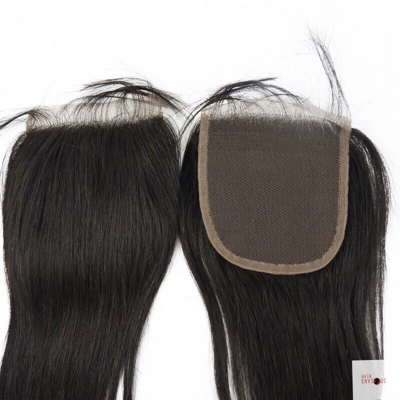 Silk Base Straight Closure