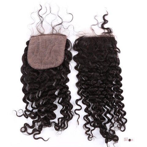 Silk Base Kinky Curly Closure