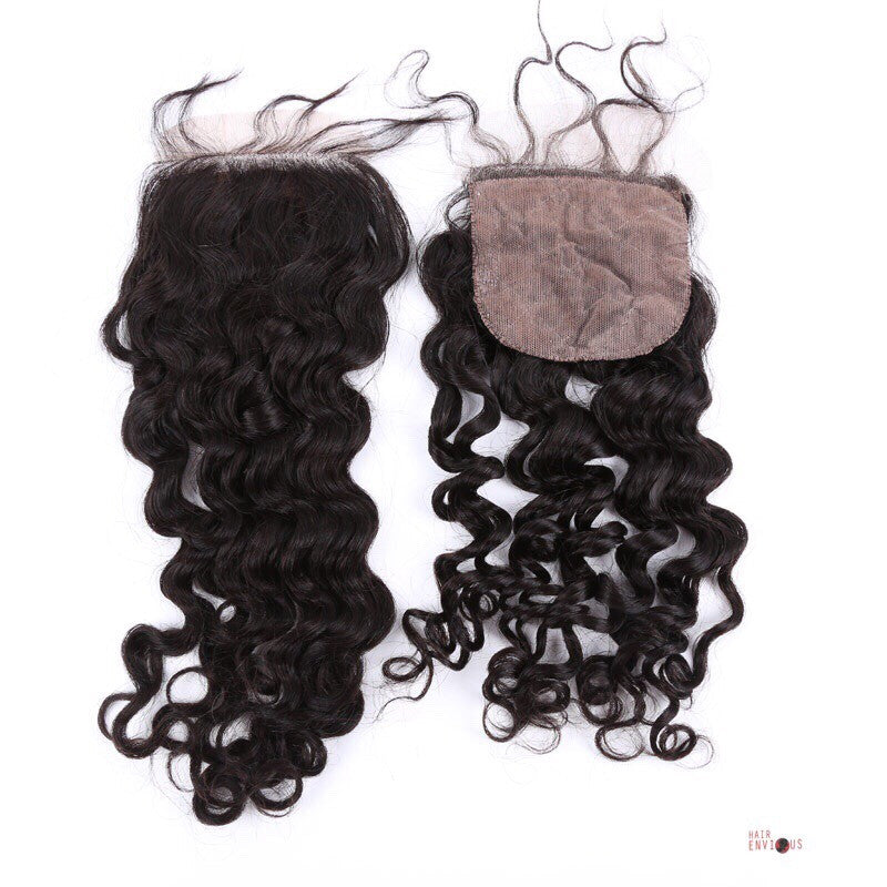 Silk Base Curly Closure