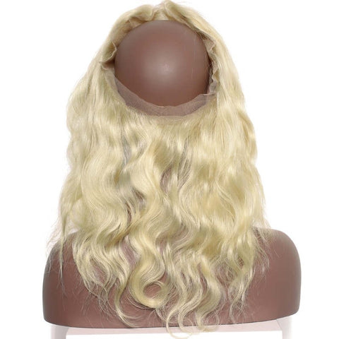 360 Wavy Blonde Lace Frontal