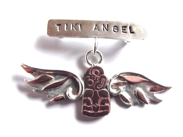 Tiki Angel Brooch