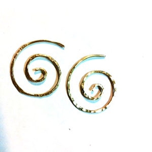 Koru (spiral) silver earrings