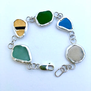 Glass and china bracelet