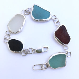 glass, china and stone bracelet