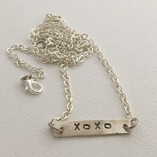 XOXO Silver Necklace