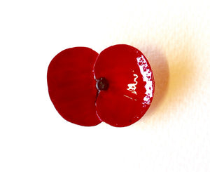 Poppy Brooch - NZ jewellery