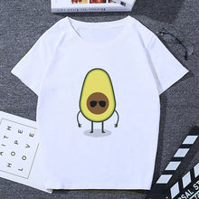 Load image into Gallery viewer, 2019 New Arrival Womens Tshirt Kawaii Cartoon Avocado Vegan Vogue Clothes Tops Female Tee Small Fresh Casual Womens T Shirt Tops