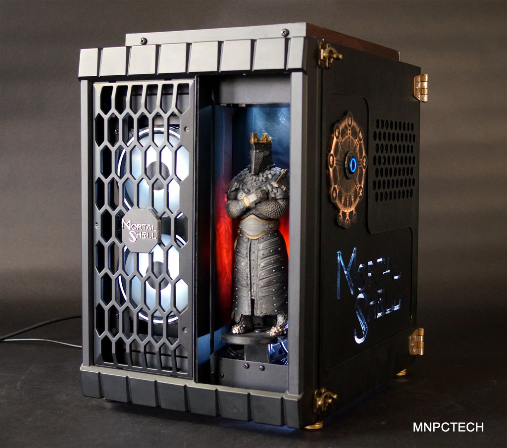 Mortal Shell Custom Gaming PC Case Mod Build By Mnpctech.