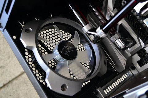 "Custom Gaming Xidax 120mm Overkill ""Ring"" PC Fan Grill"