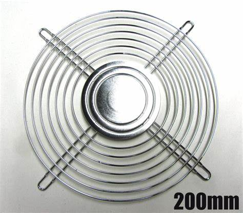 200mm Chrome PC Fan Wire Guards & Grill