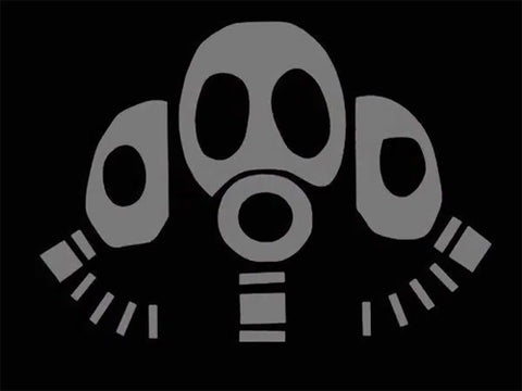 find 3 gas mask decal PC car truck window sticker applique