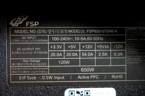 Power supply size and specs for Intel NUC Beast Canyon 11btmi9 PC