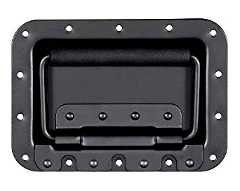 Black Reliable Recessed PC Handles Carry Top