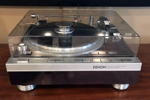 Denon DP-47F record player phonograph turntable isolation feet