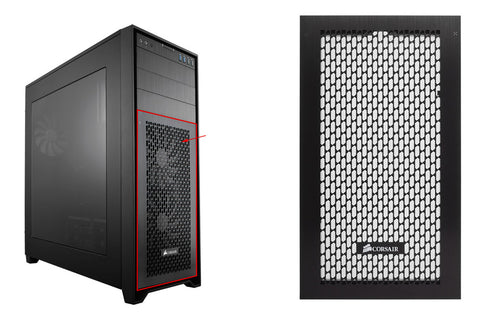 Very easy to swap out and replace Corsair Obsidian Series™ 750D Full Tower High Airflow Front Bezel Plate