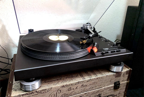 Technics SL-1900 replace rubber feet custom isolation feet
