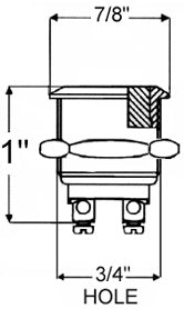 VANDAL switch dimensions for making hole