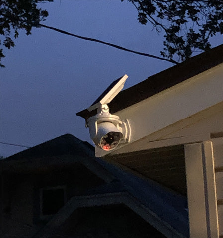 JACKYLED Ultra Bright Solar Security Light Looks Like commercial camera