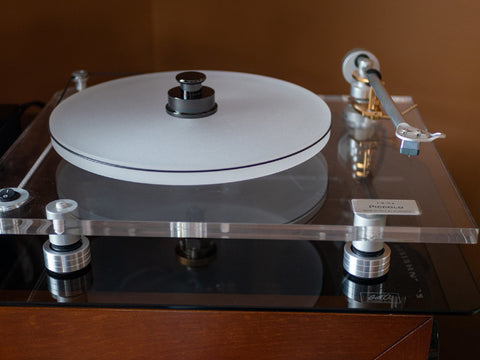 Let me find BLUENOTE Piccolo Turntable Sorbothane Isolation Feet (Set of Three) will also help prevent and stop Needle Skipping.