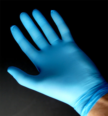 Buy 100 Disposable Nitrile Blue Gloves Powder Free Strong Latex Free