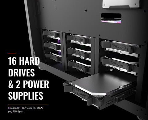 shop and buy cheap full tower darkflash df-800 server case for 3.5 raid data hosting