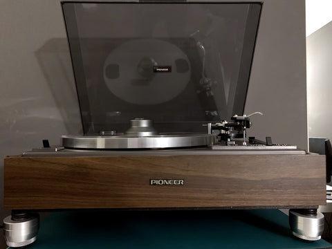 PIONEER PL-12D Height Adjustable Turntable Feet Will stop needle skipping and vibrations to make your music sound better