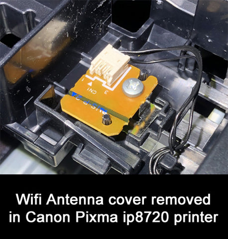 find remove re-connect wifi canon pixma ip8700 series ip8720 color printer antenna