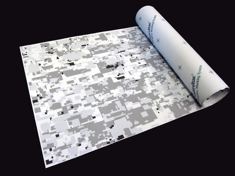 Alex Siri 3M White Winter Digi-Camo / Digital Snow Camouflage Vinyl Film Wrap Sheets