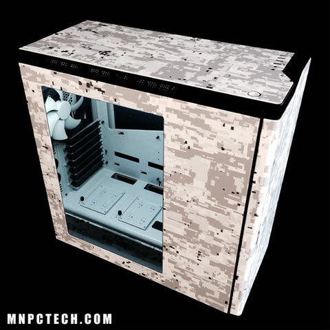 Wrap Gaming PC case 3M White Winter Digi-Camo / Digital Snow Camouflage Vinyl Film Wrap Sheets