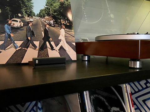Beatles Abby Road Vinyl LP playing on Music Hall Classic Turntable With Custom Isolation Feet