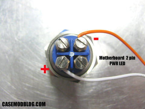 How to wire vandal resistant push button LED power or reset switch for computer mod