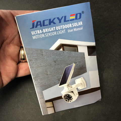 jackyled solar power security light instructions and review
