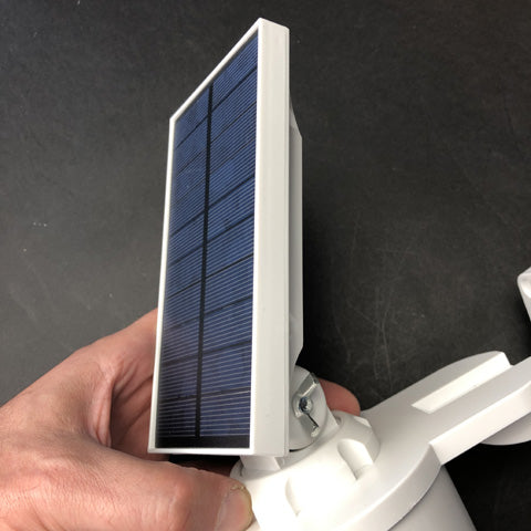 JACKYLED Solar Security Light For Outdoors Review Has Adjustable Solar panel for optimal charging.