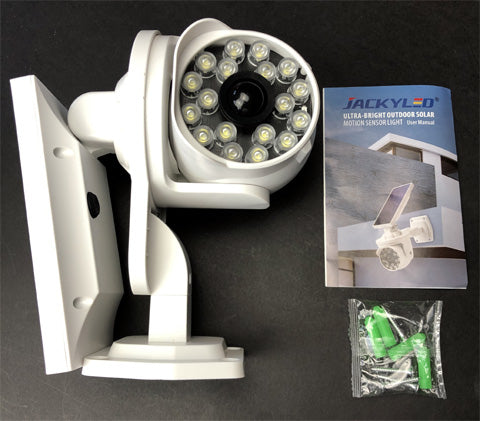 Guide How To Install JACKYLED Solar Security LED Light Outdoors & Review