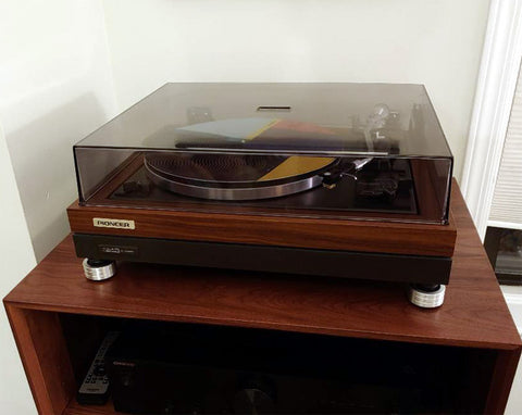 replace feet rubber on pioneer PL-A45D record player turntable