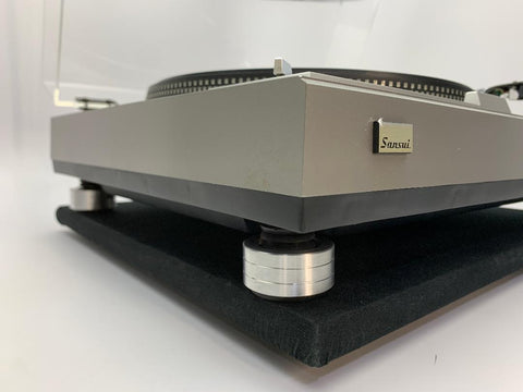Fix and replace old rotted rubber feet on your SANSUI SR-535 Direct Drive Turntable Isolation Turntable.