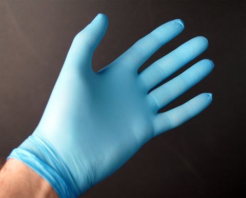 100 Pack Hand-Tek Disposable Nitrile Blue Gloves Powder Free Strong Latex Free