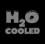 """H2O COOLED"" PC Window Decal"