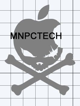 Anti Mac Skull Decal Stickers
