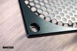 custom 120mm silverstone pc fan grill black mesh honeycomb