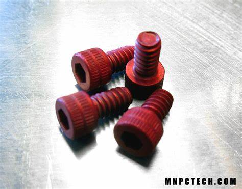 6/32 Anodized Red Screws