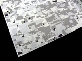 3M White Winter Digi-Camo / Digital Snow Camouflage Vinyl Film Wrap Sheets