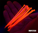 UV Reactive Colored PC Cable Zip Tie Wraps (Pack of Ten)