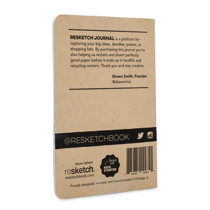 Resketch Journal - 3.5 x 5-inch (3-pack)