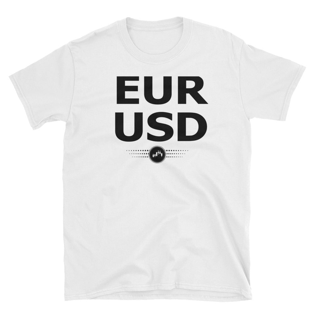 EURUSD( BLACK AND WHITE) | FOREX TRADING APPAREL - Fly Trader Tee