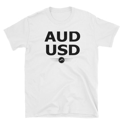 AUDUSD( BLACK AND WHITE) | FOREX TRADING APPAREL - Fly Trader Tee