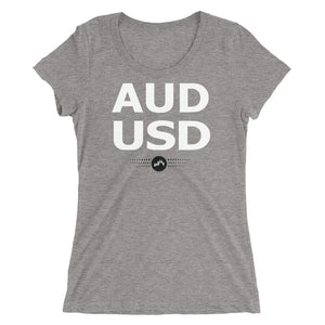 AUDUSD Tee (Ladies) | Forex Trading Apparel - Fly Trader Tee