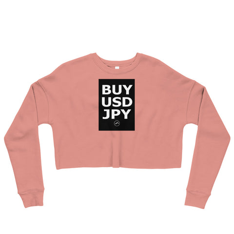 BUY USDJPY Crop Sweatshirt | Forex Trading Apparel