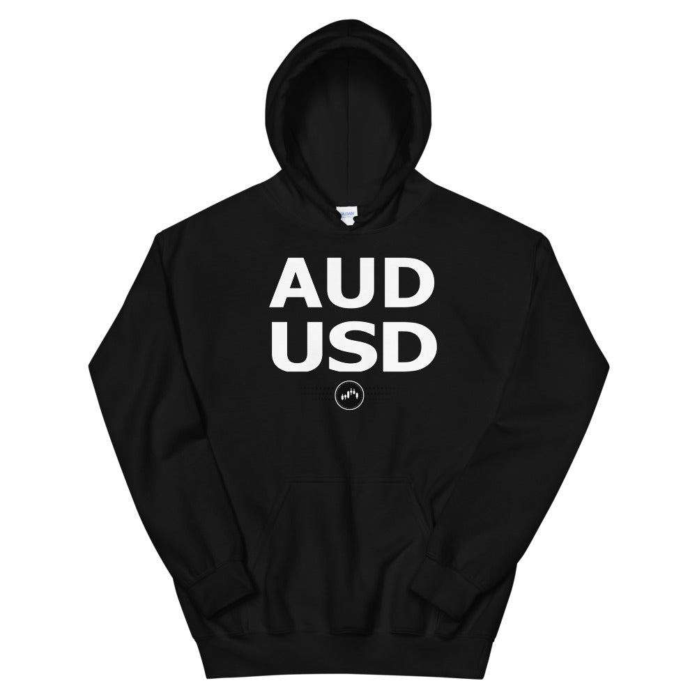 AUDUSD (BLACK) HOODIE | Forex Trading Apparel - Fly Trader Tee